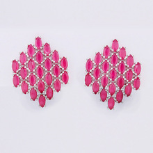 Free Sample White Gold Plating Stud Earring for women daily wear
