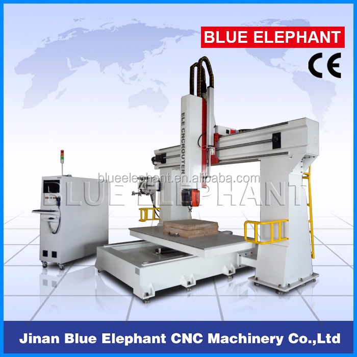 5 axis cnc router engraving machine with high Z level, 5 axis woodworking cnc router