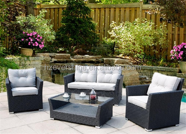 European Style Outdoor Coffee Shop Sofa Sets/ Rattan Table and Chairs Set