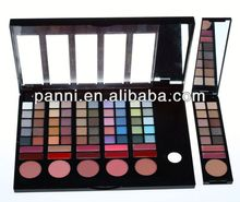 78 colors eyeshdow & lipgloss can changable makeup case,switzerland cosmetics