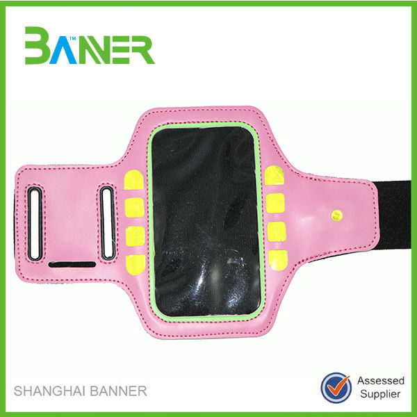New coming pink waterproof sport armband for all smartphones