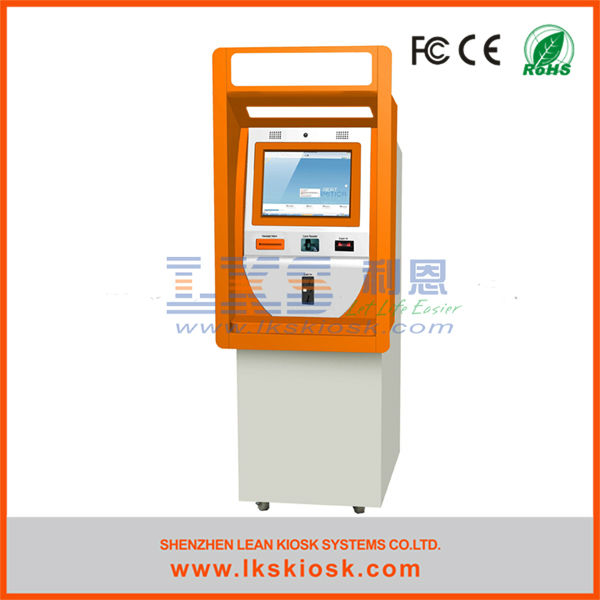 self-service ATM kiosk machine