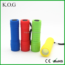 Colorful COB Small Torch for Children, High Power Torch Light,plastic LED Torch