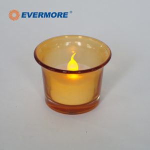EVERMORE Flameless Rechargeable LED Tea Cup Candle Holder Lights