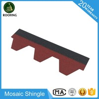Mosaic roof tile types,asphalt roofing material with high quality