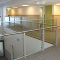 frameless safety tempered and laminated glass balustrade