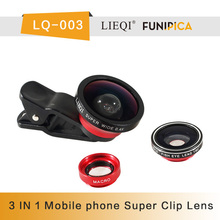 Mobile Phone Camera Three-in One Lens 0.4x Wide Angle clip Lens for iPhone and Android