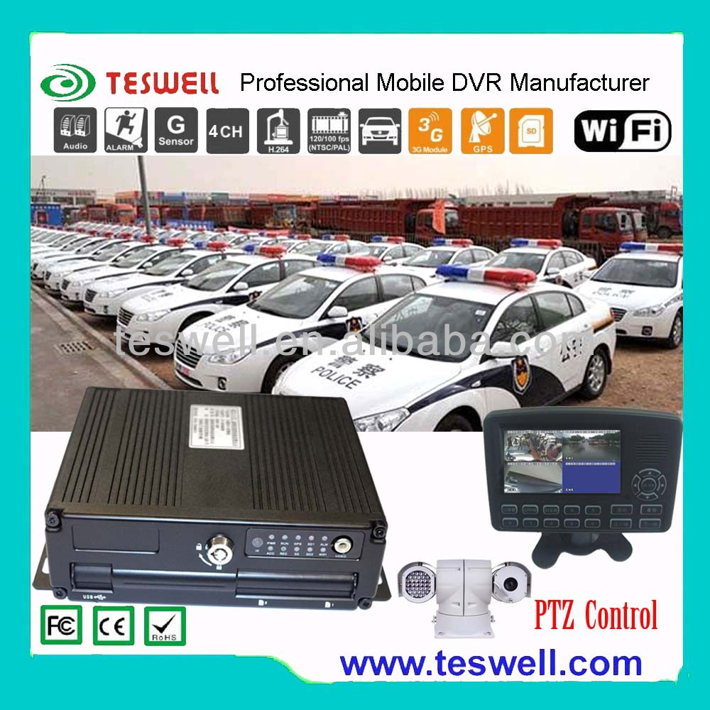 4 channel 1TB HDD dual SD card Mobile DVR Solutions with wifi for option