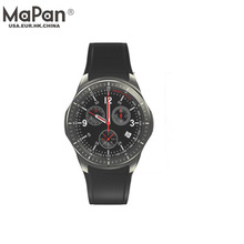 MaPan Smartwatch with Sim 3G Cell Phone Real-time heart rate detector Men Fashion Wrist Round Sports Pedometer high-tech