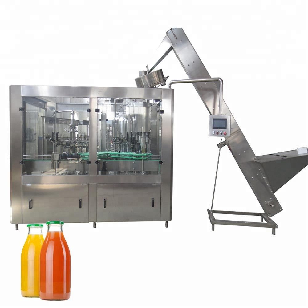 Glass bottle beverage juice filling and capping machine