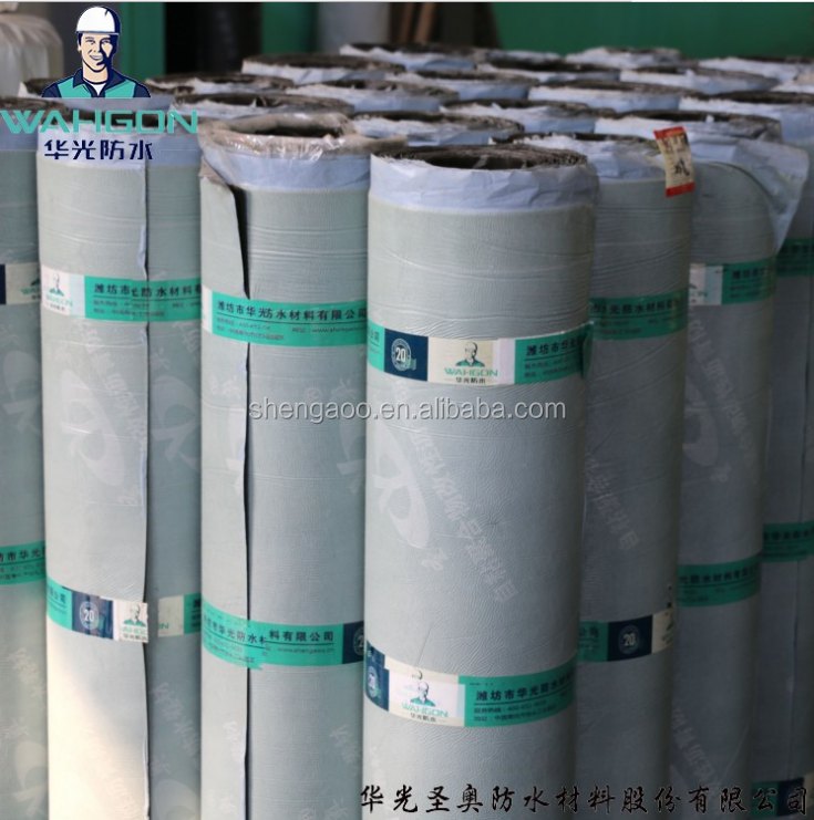 Self-adhesive modified bitumen waterproof membrane with polyester re-enforcement