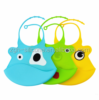 Food Grade Silicone Rubber Baby Bib For Children