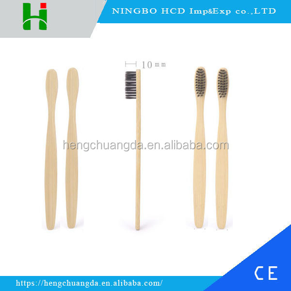 Hot sale and Natural cheap bamboo toothbrush, disposable charcoal toothbrush for hotel