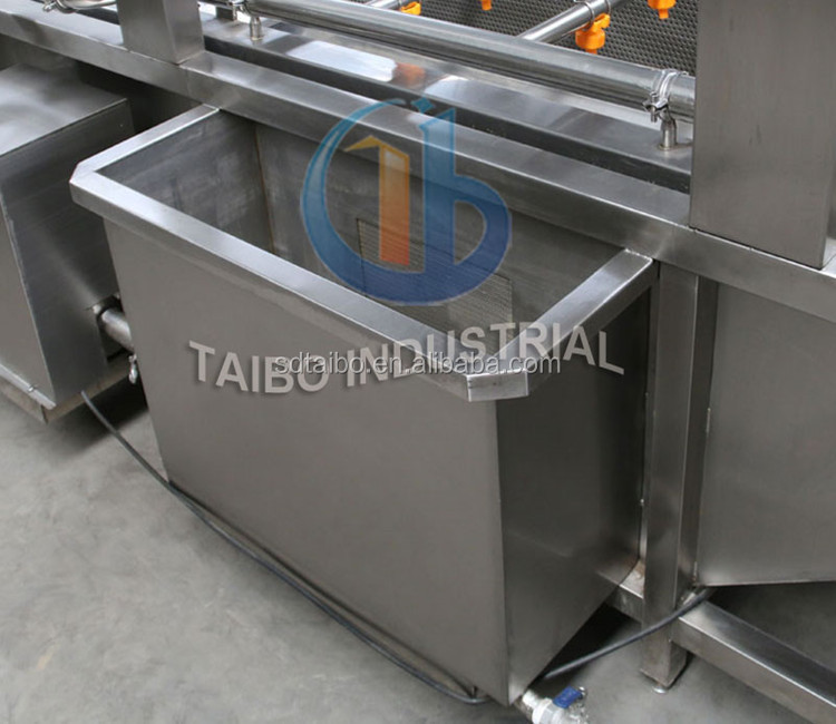 High output and low energy consumption vegetable washer