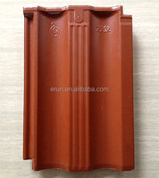 Factory glazed clay roof tile/roof designs/ceramic coated roofing materials