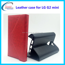 New arrival leather case for LG G2 mini,wallet case for LG G2 mini,flip cover case for LG G2 mini