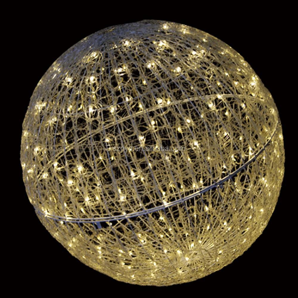 Hanging Christmas Light Balls