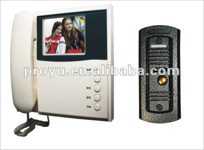 6 LED lights, night vision video door phone for apartment PY-PY-V1B-M