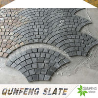natural black slate lowes stepping stones