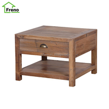 FN-5075 natural drawer reclaimed side wood coffee table