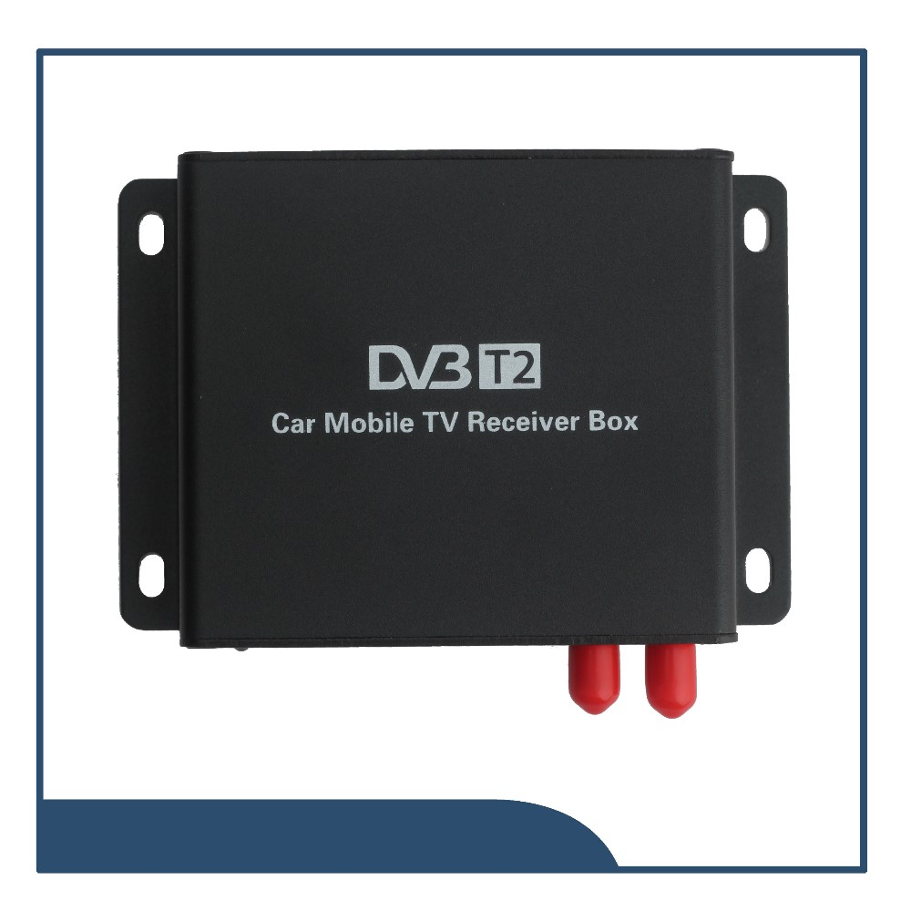 low cost car dvb-t2 tv receiver support 1080p(full hd) car dvb-t2 tv tuner support MPEG4 mobile digital car dvb-t2