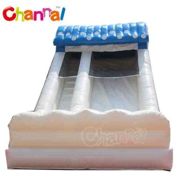 snow white inflatabe dry castle slide for kids
