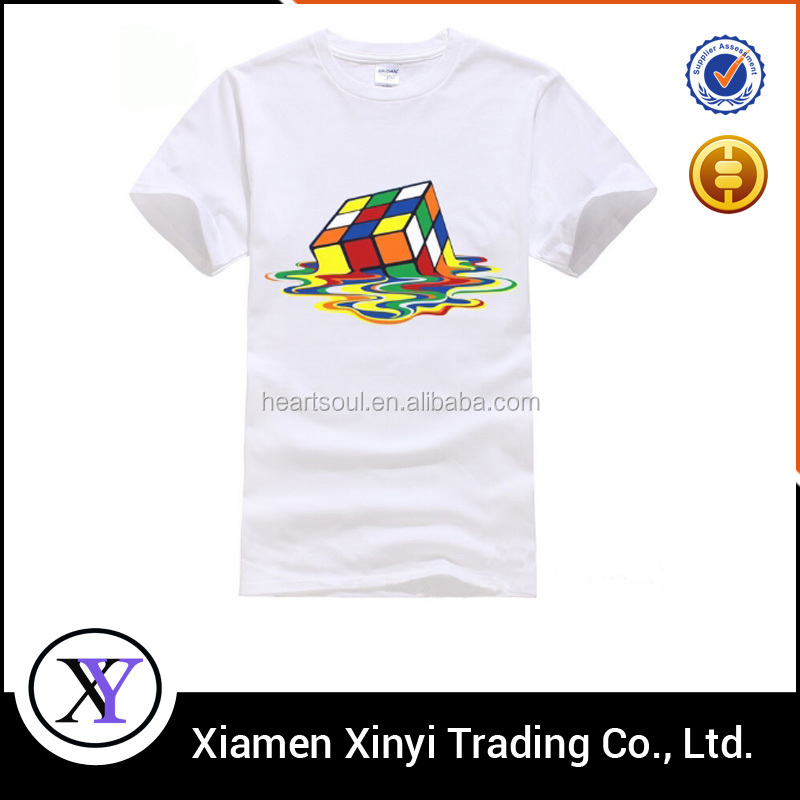Fashion custom cheap white t-shirt korea design