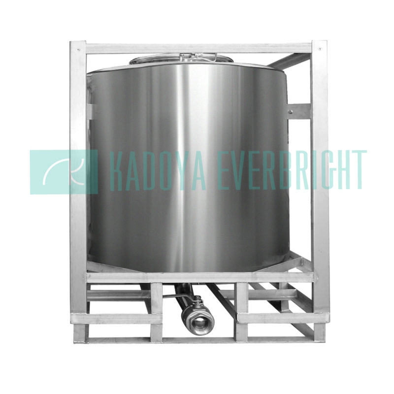 1000L storage liquid steel ibc container with frame