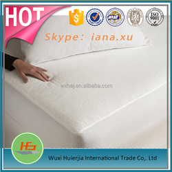 Cheap White Fitted Terry Cloth Mattress Cover Waterproof