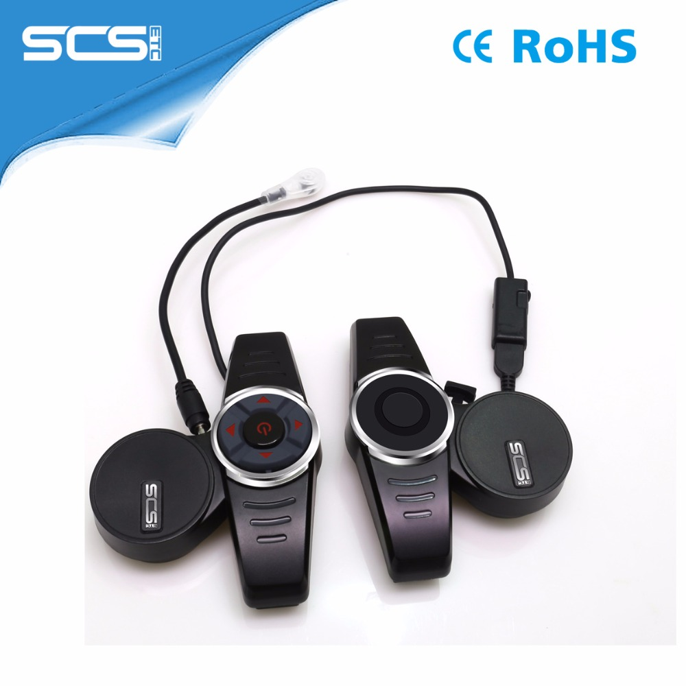 SCS ETC Black Motorcycle intercom helmet with built-in bluetooth