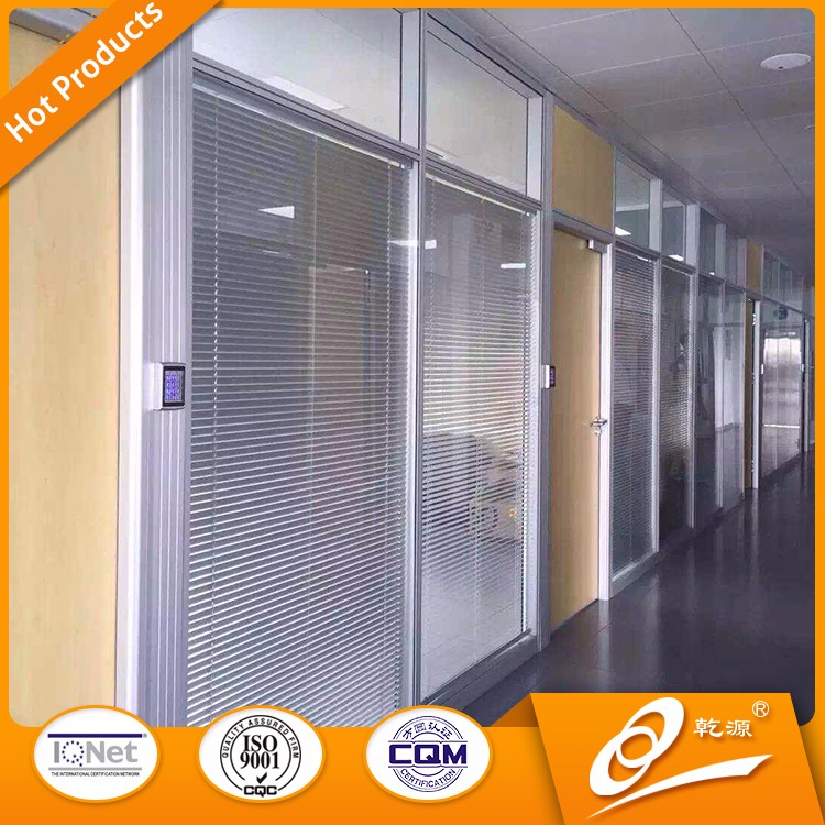 Hot Sale Modern new products 2016 office partition glass wall made in china