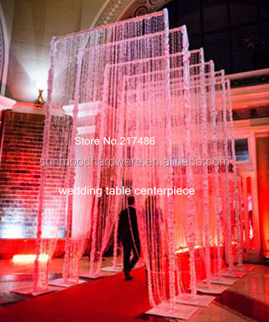 3ftx12ft(90x360cm)acrylic crystal curtain for <strong>wedding</strong> stage mandap decoration crystal <strong>wedding</strong> arch for <strong>weddings</strong>, party , even