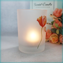 FJ006H custom votive glass candle tealight insert scented paraffin wax glass cup candle