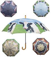 Esschert Design Farm Animal printed J shape solid wood rain gear