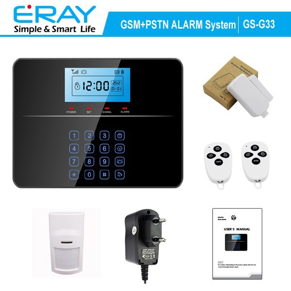 New GSM+PSTN wireless dual-network smart house burglar alarm system panel support 99 defense sensor