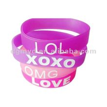 2013 newest beautiful silicone bracelets as promotion item