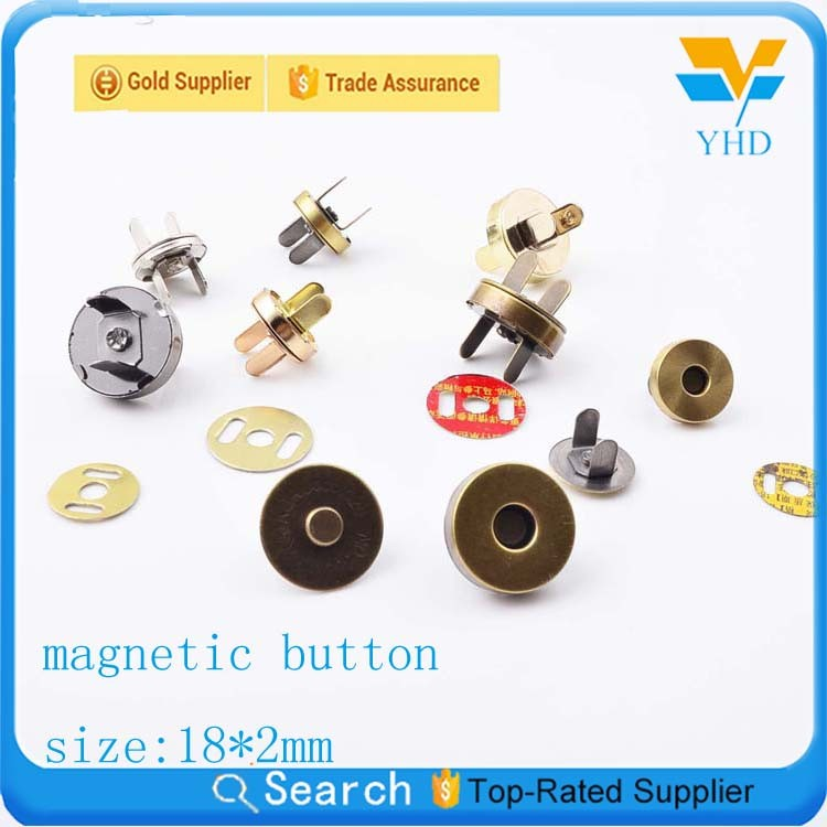 14mm metal magnet snap rivet buttons for jeans