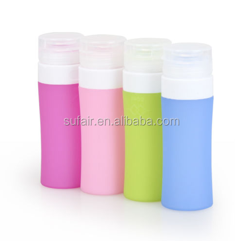 Wholesale cheap airless empty silicone travel packing bottle press leak proof bottle for cosmetics