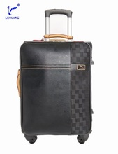 hot sale high quality 4 wheels pu trolley case luggage