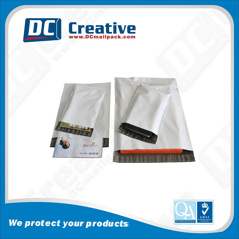 White and Grey Express Mailing Bag Customized Size Poly Mailer Printed poly mailer bag