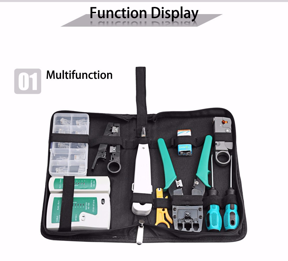 Hot 12 in 1 Professional Computer Repair Tools <strong>Kit</strong> Flat Screwdriver Wire Cutter Computer Maintenance Network Repair Tool Box <strong>Kit</strong>