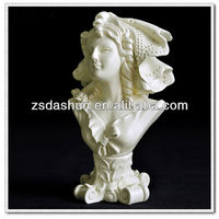 MPB-A3003 resin noble woman head scupture school decoration&library decoration