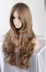 Hot sales nice wavy silicone base wig