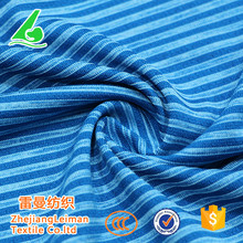 100% Polyester knit fabric single jersey, stripe knit fabric for T-shirt