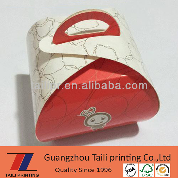 foldable birthday cake box, folding birthday cake paper box with drum/ stock birthday box LZY2013112901