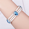 2016 CDE Crystal From Swarovski Wholesale Fashion Women Wrap Freshwater Pearl Bangle