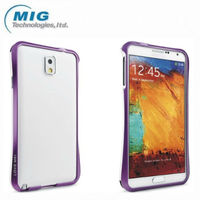 For Samsung note 3 case Original Love Mei brand double color AL metal Bumper, Cell phone cover for Samsung galaxy note 3