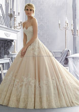 Free shipping sweetheart customize wholesale cheap puffy lace ball gown wedding dress CWFaw5811