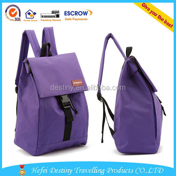 Custom promotional colorful fancy Plastic Buckle backpacks for school sexy girls