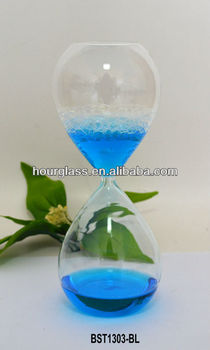 Colored Transparent Bubble Hourglass